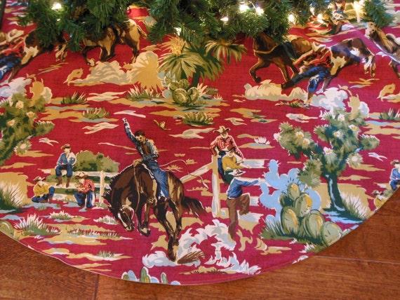Cowboy Christmas Tree Skirt Western Tree Skirt Western