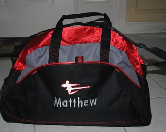 Duffel Embroidered Bag With A Personalized Design Custom Gym Karate School Cheer Dance Gymnastics Monogrammed