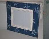 Navy blue Starfish 8 x 10 distressed frame