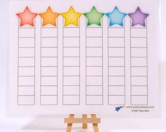 Piano Stars BLANK Goal Chart