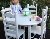American Girl Doll: Furniture, oval table and 4 chair set