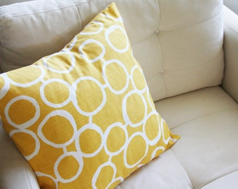 Modern Accent Pillow Covers - Hand Drawn Circles - varying sizes and colors available