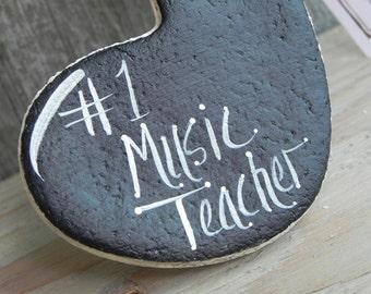 Music Teacher Gift Hanging Salt Dough Ornament Xmas Gift Blank or Inscribed