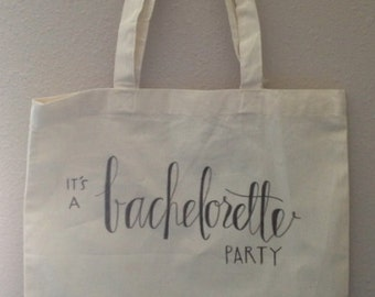 Bachelorette Wedding Tote Canvas Bag