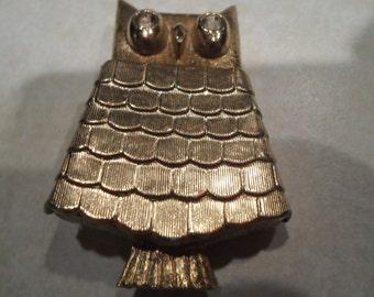 Avon Owl perfume Brooch Vintage 1970s