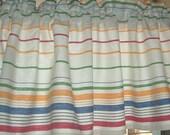 VALANCE TOWELING Woven STRIPES Cotton 35 x 13  Retro Kitchen Border stripe Window Curtain