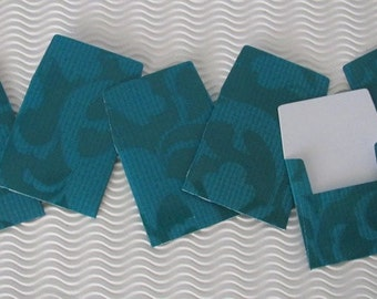 24 teeny tiny miniature square teal mini envelope note card sets stationery party favors weddings guest book table number