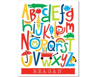 Personalized Alphabet Poster - Doodle Delight