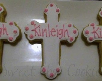Communion Cross Cookies 2 dozen