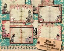 Tea and Tweets - Printable Journal Kit