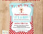 MUSTACHE BABY SHOWER or birthday invitation - you print