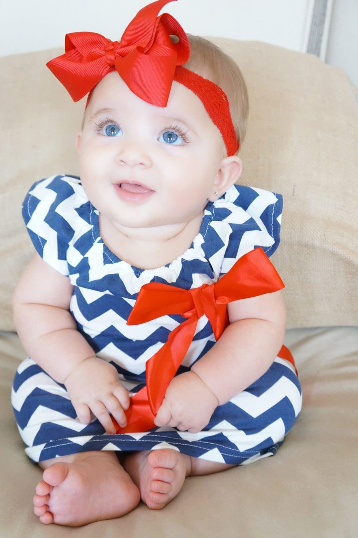 Navy blue girl dress baby girl cotton dress dresses on sale