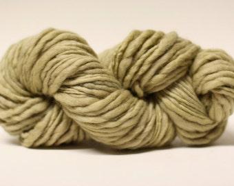 Thick and Thin Merino Yarn Slub Hand Dyed TTS(tm) 44tts13046 Linden Green