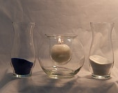 Personalized Unity Sand Ceremony Set - Bubble Ball with Candle and Hanging votive