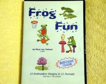Frog Fun - Embroidery Design CD