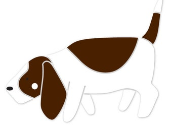 Basset Hound Dog Stencil for Painting Kids or Baby Room Mural  (SKU284-istencil)