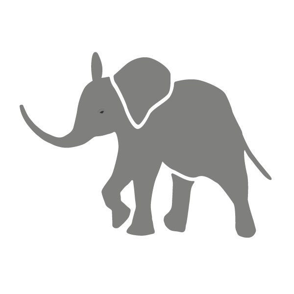 Baby Elephant Stencil For Painting Kids Or Baby Room Mural