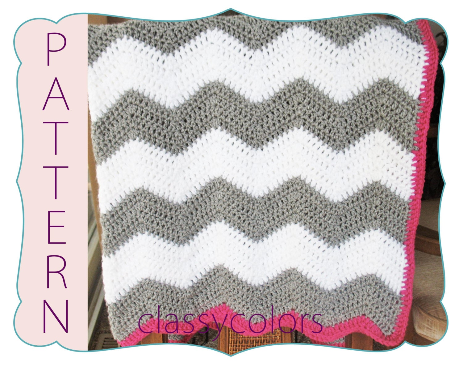 Crochet Pattern Chevron Baby Blanket : Lighting