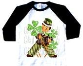 St. Patricks Day Boys tshirt long sleeve tshirt...Boys Raglan baseball style tee shirt....St. Paddy's Day......