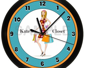 Shopping Boutique Wall Clock Personalized