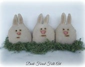 Primitive Spring Bunnie Bowl fillers set of three
