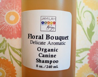 Pet Care - Organic Floral Bouquet - Delicate Aromatic Conditioning Canine Shampoo, Skin Nourishing Oils, Rich Lather, Fragrant, Pet Shampoo