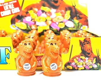 Alf Candy Containers Filled With Candy Cats Topps 1987 Set of 2 Containers