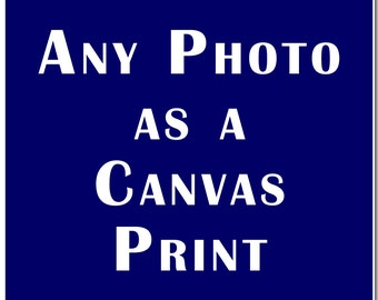 Any Photo Printed on Canvas & Stretched Gallery Wrap, photography, art, home decor, interior design