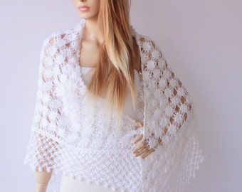 Bridal shrug bolero ,crochet shawl, Bridesmaid gift shawi,  crocheted shrug capelet wrap, CHOOSE YOUR COLOR