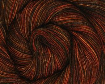 basic sock yarn CATALONIAN NIGHTS hand dyed sw wool nylon 3.5oz 460 yards