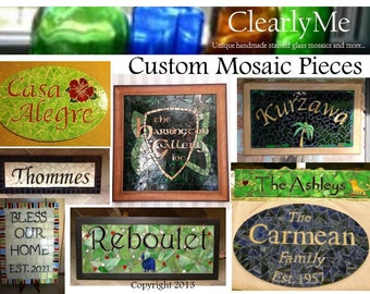 Custom Sign Mosaic for Family, Business. Wedding, Anniversary