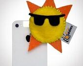 Shutter Buddies Silly Sun for smart phone, iphone accessory, droid accessory, smart phone accessory, ipad accessory, tablet accessory