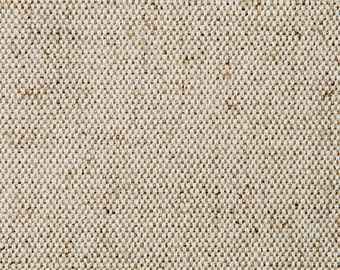 Two Tone Cotton /Linen Fabric for Upholstery, Slip Covers and Home Furnishings - Natural Cotton yarns woven through a Natural Linen- 1 yard