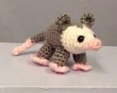 Baby Opossum - Amigurumi - Hand Crocheted