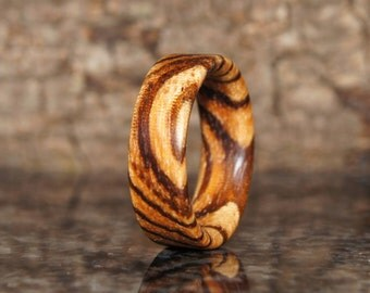 Any size - Zebra Wood Ring