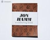 Jon Hamm - ein Mini-Malbuch - 4 x 5 Zoll