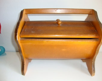 Wooden Sewing Basket