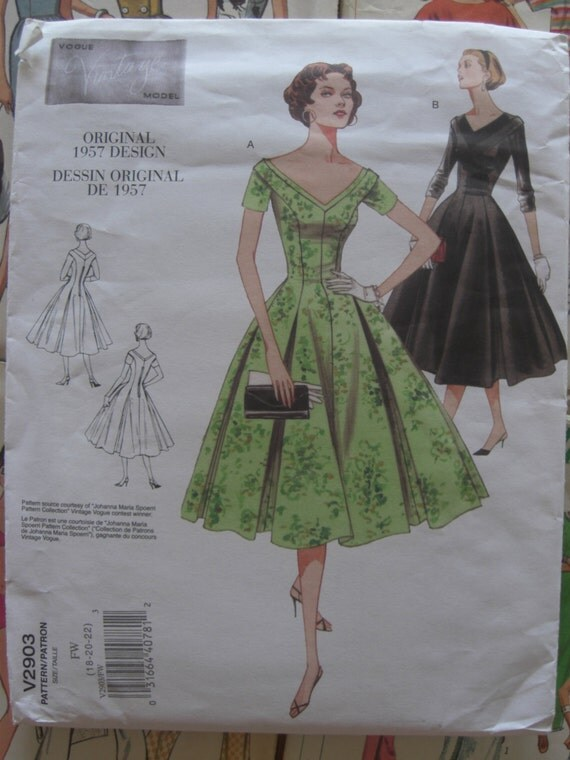 Reproduction vintage sewing patterns