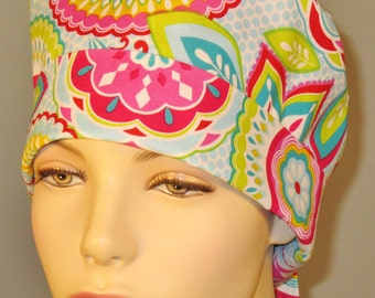 Scrub Hat Bright Floral