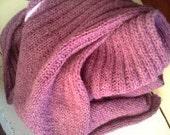 Blanket Scarf Knit PDF Original Pattern