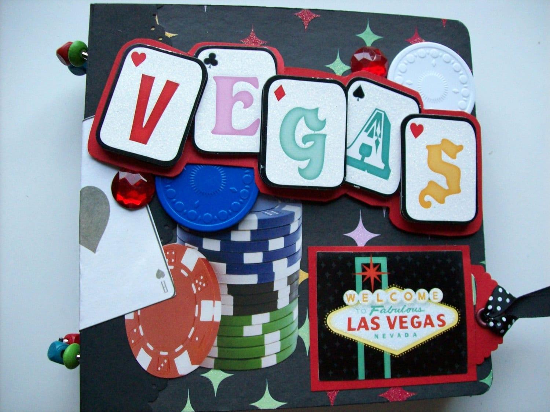 Scrapbook ideas las vegas -  Las Vegas Premade Scrapbook Mini Album W Pocket Pages Premade Zoom