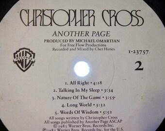 Vinyl Album Bowl - Recycled Christopher Cross Vinyl Record Album