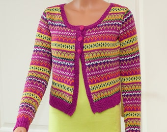 "Pattern for short cardigan ""Elise"""