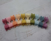 You Pick - Mini Wool Felt Hair Bow Headbands - Choose from over 30 colors - Newborn Baby to Adult