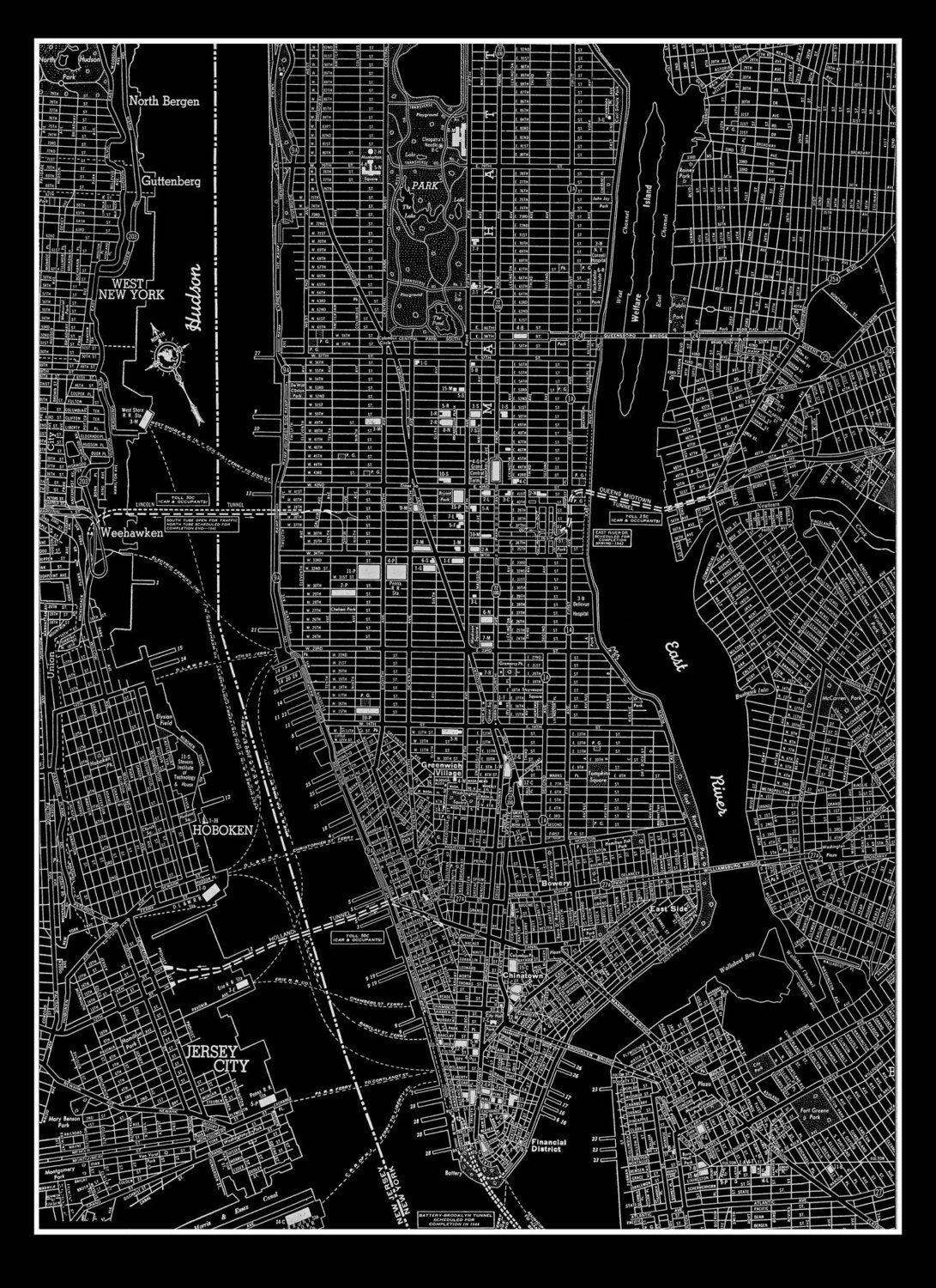 New york poster – Street Map Nyc