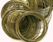 WIRE-MEM-22G - Antique Bronze MEMORY Wire, non coated, 22 gauge, 50 Circles
