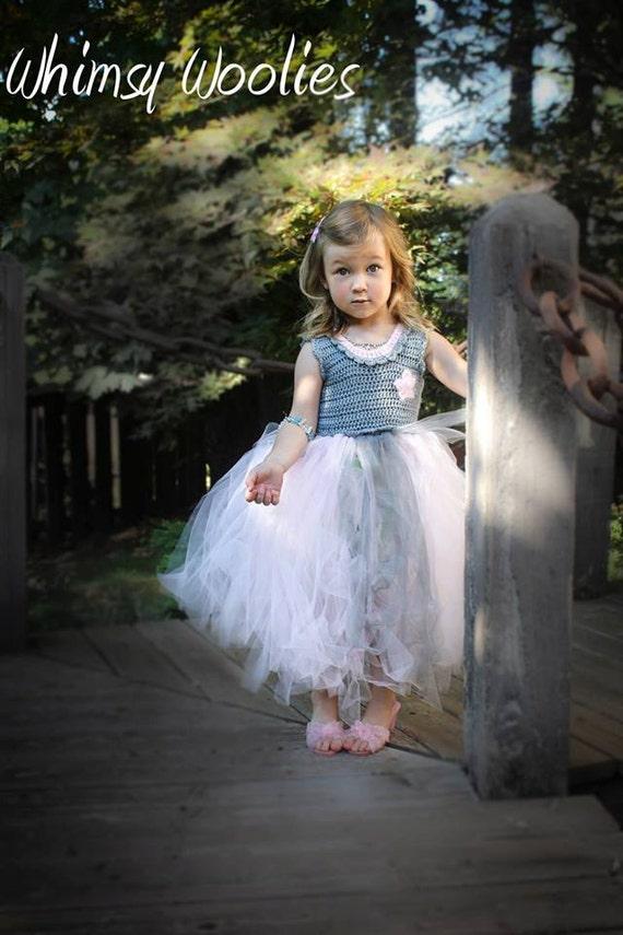 Crochet Pattern For Flower Girl Dress : Crochet Tutu Dress Pattern: Coralie Dress Flower by ...