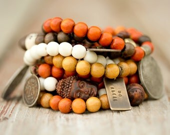 Mala Bracelets / Malas / Prayer Beads / Buddhist Jewelry / Compassion / Kindness / Earthy Jewelry / Boho Chic / Stacking Bracelets