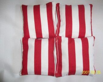 Cornhole bean bags Red chevron corn hole bean bags ACA regulation Bean bags