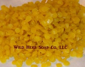 NATURAL YELLOW BEESWAX Organic, Pure, Sweet Honey Scent (Pearls / Pellets) - 4 oz. size